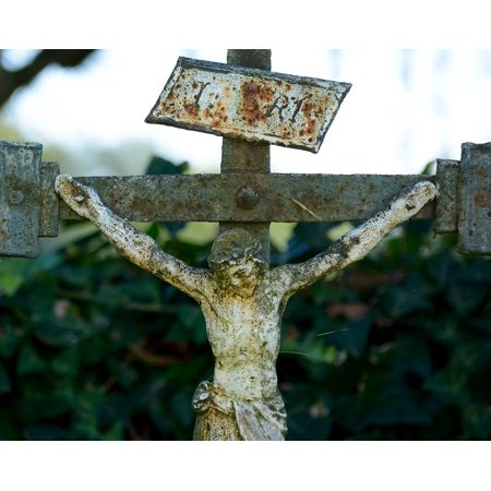 LAMINATED POSTER Believe Stainless Metal Cross Iron Metal Cross Poster Print 24 x -