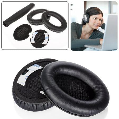 - TSV boses Quiet Comfort QC2, QC15 Headphone Replacement Ear Pad + Headband Cover / Ear Cushion / Ear Cups / Ear Cover / Ear pads Repair Parts / Headband Protector (Black)