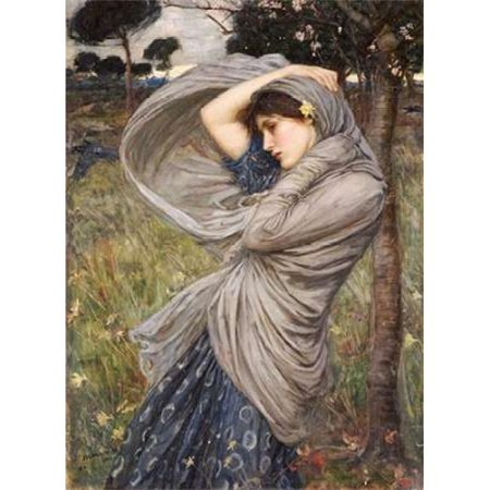 Bentley Global Arts PDX265786SMALL Boreas Poster Print by John William Waterhouse, 9 x 12 - Small - image 1 of 1