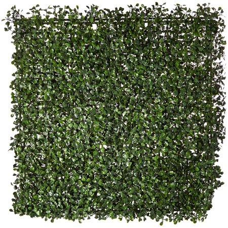 NatrualHedge Artificial Boxwood Hedge Mat 20u0022x 20u0022 Panels (12 Pack)