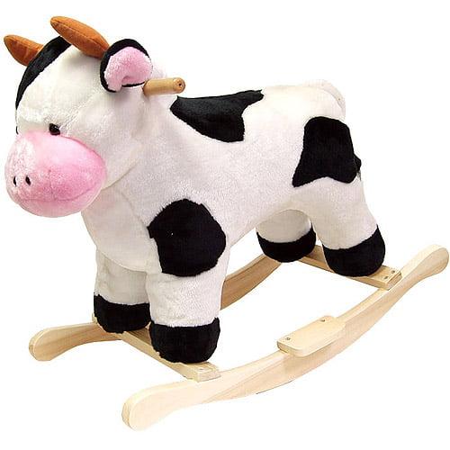 Happy Trails Plush Rocking Animal, Cow