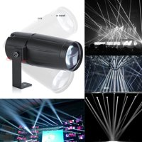 Yosoo 3W White LED Beam Pinspot Light,Mini DJ Spotlight Party Lights Effect Beam Pinspot For KTV Bar Club Party