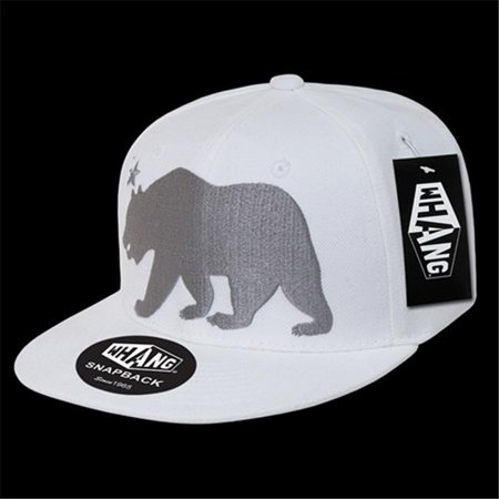 e314566281bf5 Decky W15-CR-WHT Monster California Bear Cap  44  White