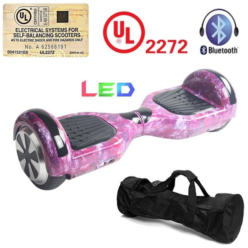 6.5 Inch Self Balancing Electric Scooter LED Electric Skate Board Support Bluetooth... by Schoolf