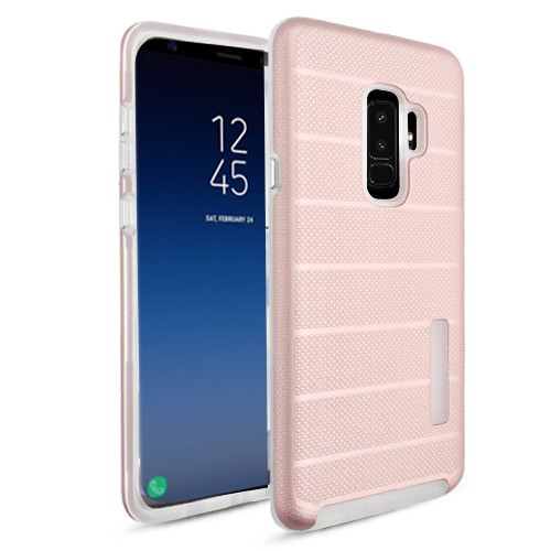 MUNDAZE Rose Pink Fusion Series Hybrid Case For Samsung Galaxy S9 Phone