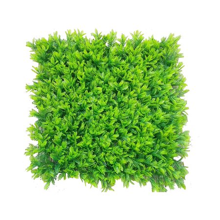 e-joy 12 Piece Artificial Topiary Hedge Plant Privacy Fence Screen Greenery Panels Suitable for Both Outdoor or Indoor, Garden or Backyard and Home Decoration, Mimosa Pudica ()