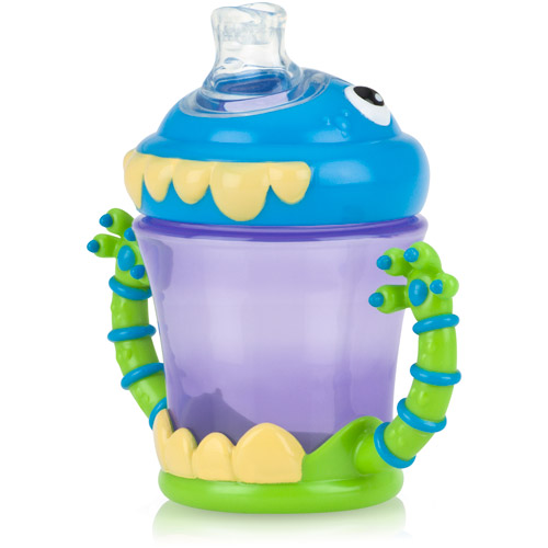 Nuby iMonster 7-oz 2 Handle No-Spill Super Spout Trainer Cup, BPA-Free