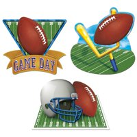 The Beistle Company 3 Piece Game Day Football Standup Set