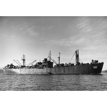 Canvas Print Photo #: NH 98738 USS Livingston (AK-222) In San Francisco Bay, California, in late 1945 or early 19 Stretched Canvas 10 x (10 Livingston)