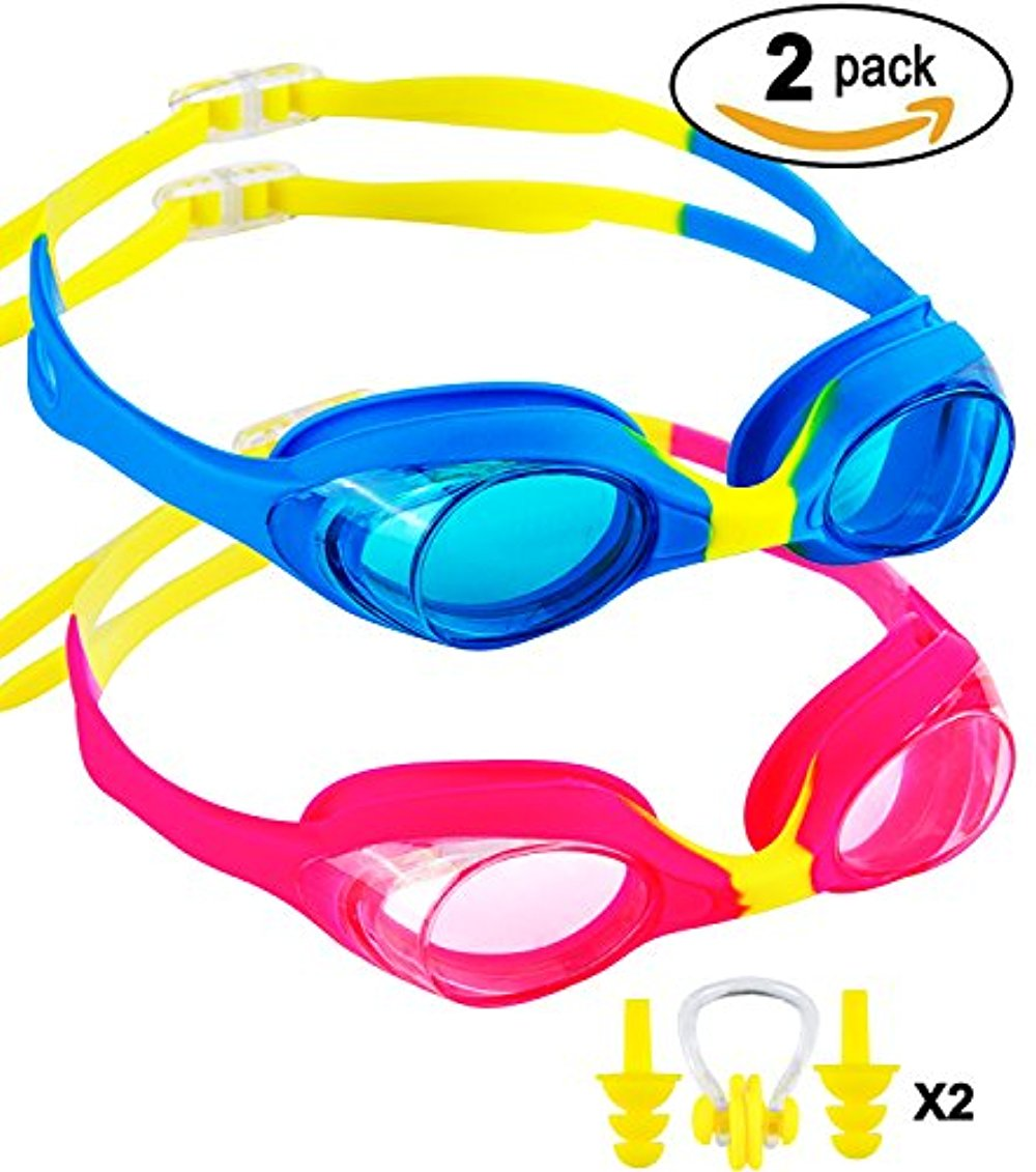 Kids Swim Goggles,2 Pack Clear Child Swimming Goggles,Anti Fog UV Protection Leakproof Silicone Frame Goggles for... by LIVEDITOR LIGHTING