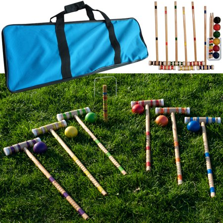 Complete 6 Player Croquet Set with Carrying Case by Hey! Play!