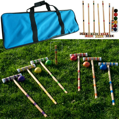 - Complete 6 Player Croquet Set with Carrying Case by Hey! Play!
