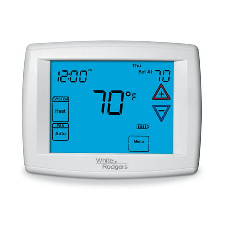 90 Series Thermostats - White Rodgers 1F95-1277 | 90 Series Blue Touchscreen Programmable Thermostat