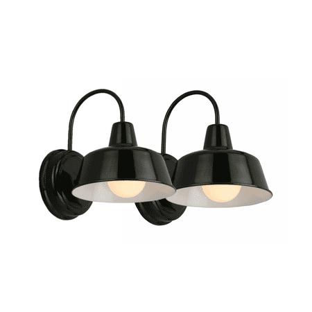 (2 pack) Design House 579367 Mason Industrial Modern 1-Light Indoor/Outdoor Wall Mount 8