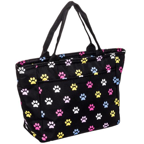 SILVERHOOKS NEW Womens Multicolor Paws Insulated School Lunch Tote Box Pail Bag