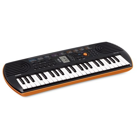 Casio SA-76 44-Key Mini Personal Keyboard 100 (Casio 61 Key Full Size Lighted Keyboard)