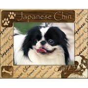 Giftworks Plus DBA0103 Japanese Chin, Alder Wood Frame, 5 x 7 In