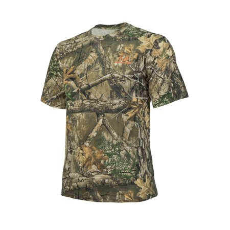 Realtree Edge Camo Short Sleeve Cotton Crew Neck by Hyde Gear ? Breathable, Outdoor, Hunting T-Shirt - XXL - Edge