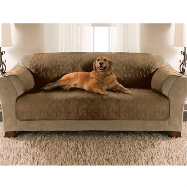 Yes Pets 59-90032TAN Sofa Size Quilted Micro Suede Furnit...