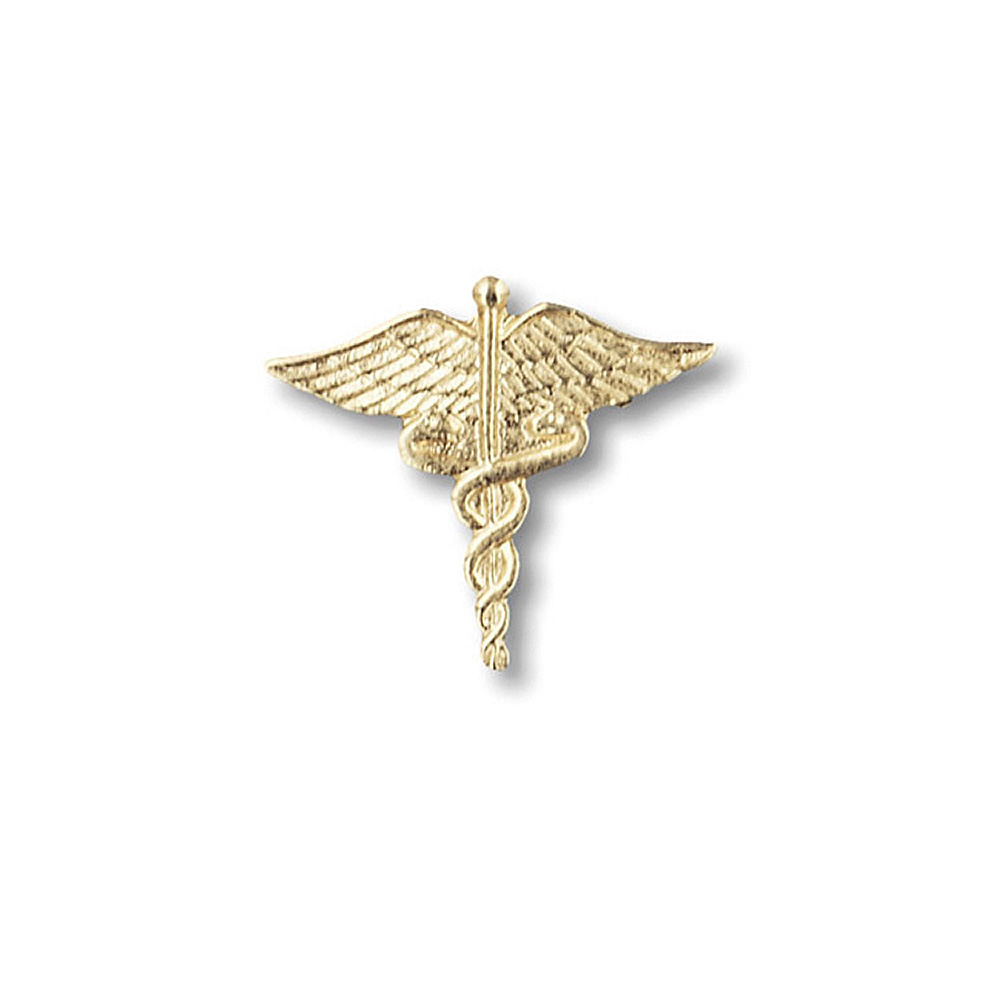 Prestige Medical Large Gold Caduceus Tac Pin