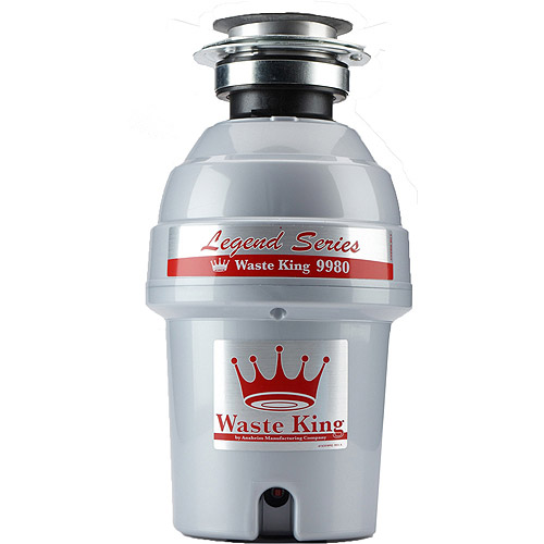 Waste King 9980 Legend Series 1 HP Professional 3-Bolt Mount Sound Insulated Garbage Disposer