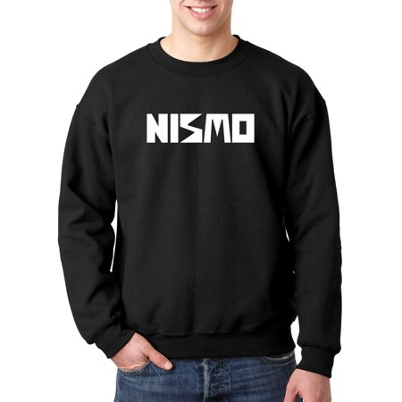 New Way 916 - Crewneck Nismo Old School Logo Nissan Motorsports Sweatshirt 4XL Black