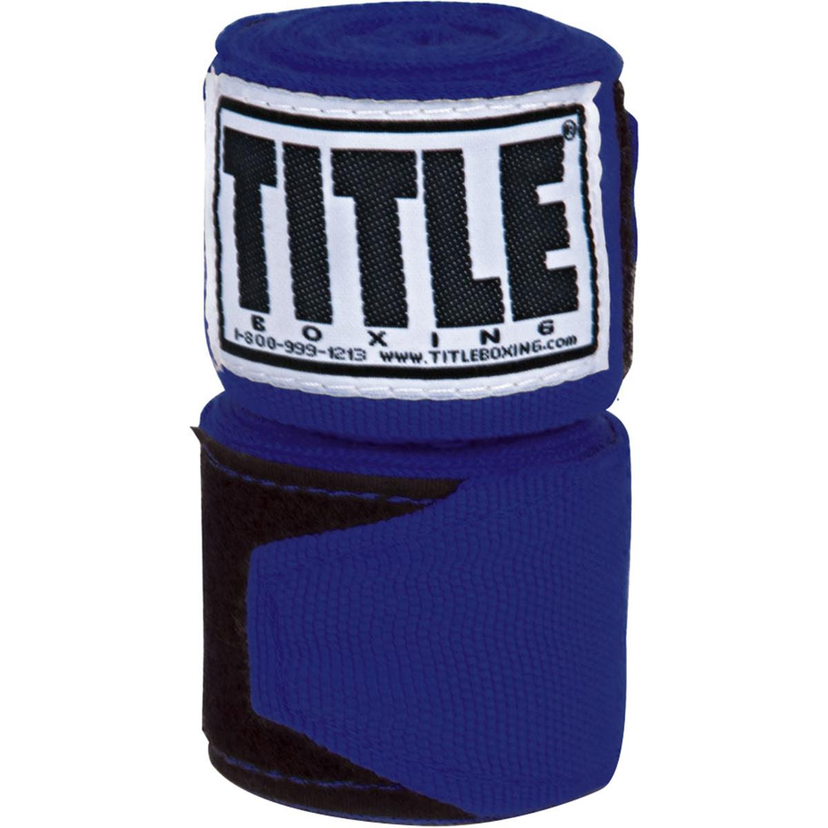 "Title Boxing 120"" Semi Elastic Handwraps - Royal"