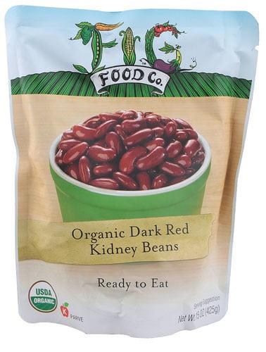 Fig Food Beans Og2 Dark Red Kidney 15 OZ (Pack of 6) by Fig Food Company