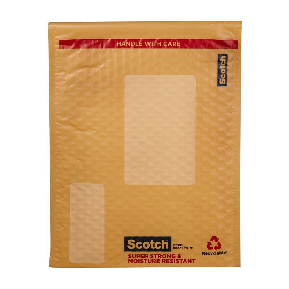 Scotch Smart Plastic Bubble Mailer Letter Size, 8.5'' x 11'', 1 Pack