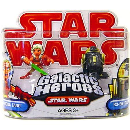 Star Wars Galactic Heroes 2009 Ahsoka Tano & R3-S6 [Goldie] Mini Figure 2-Pack - Ahsoka Tano Lightsaber