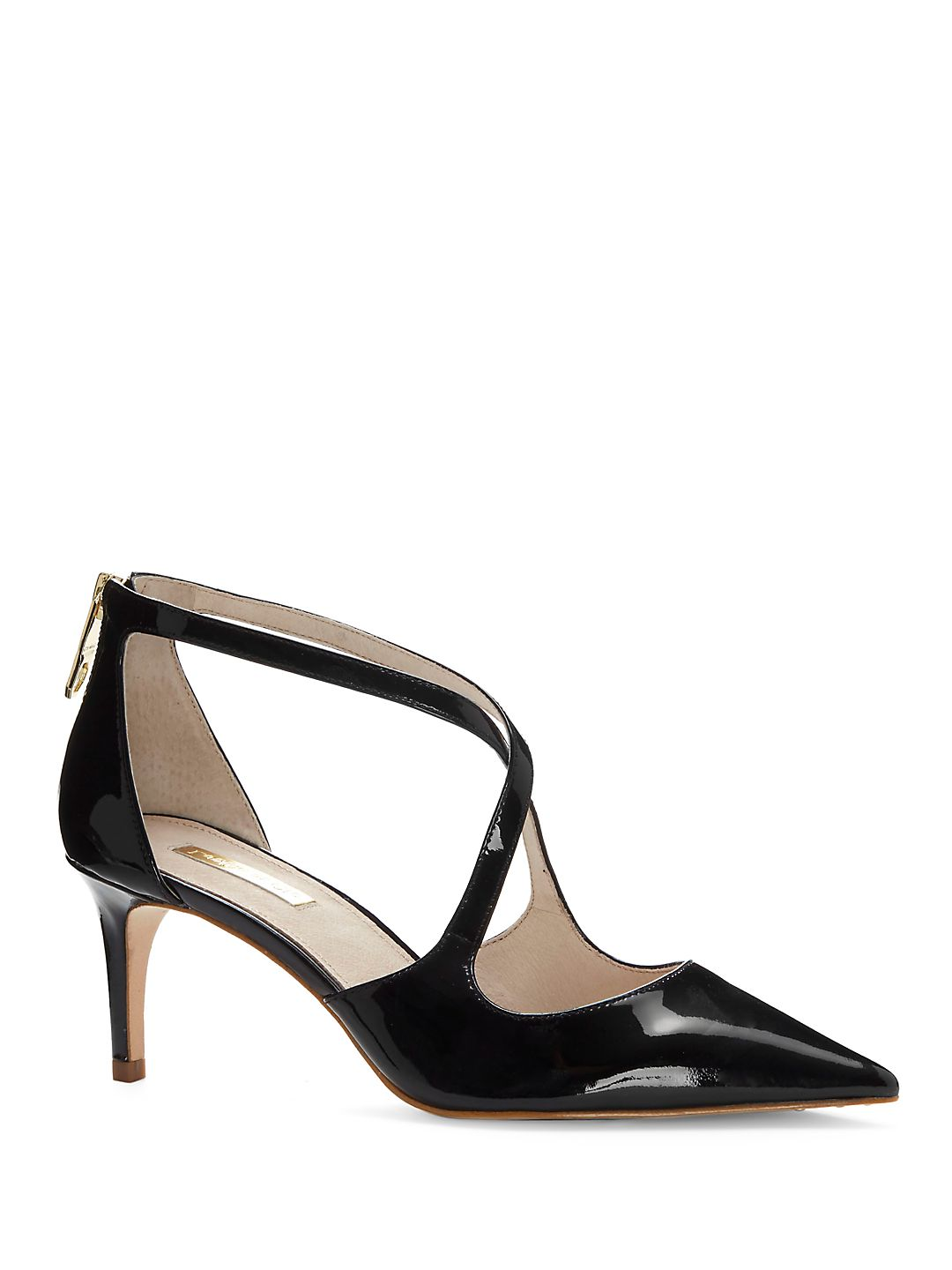 Jena Crossstrap Patent Leather Pumps