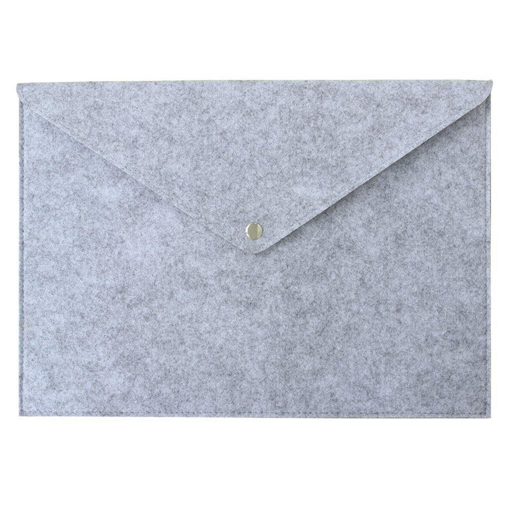 storage bag blue grey felt storage bag flower Document bag briefcase tablet bag