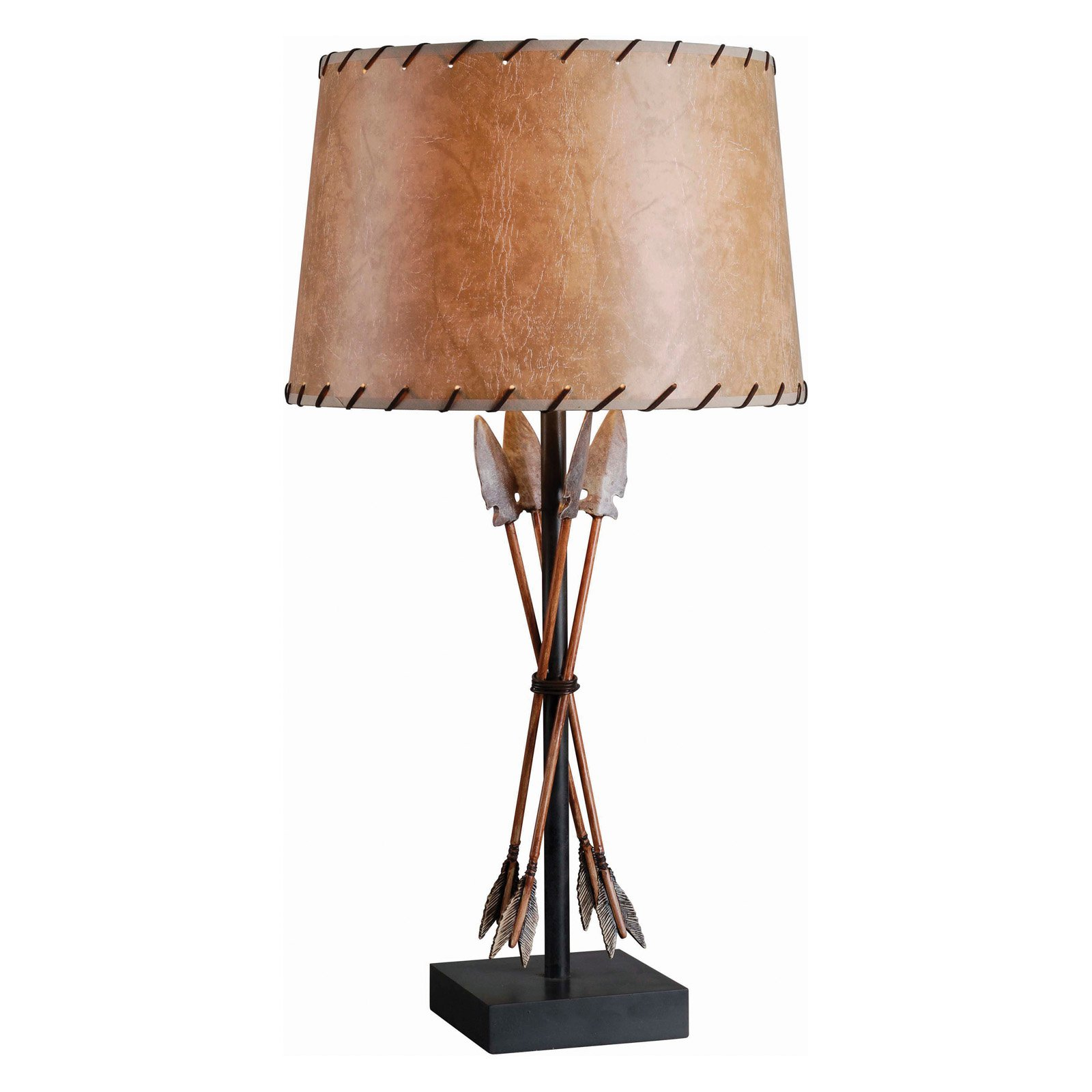 Kenroy Home Bound Arrow Table Lamp, Antique Wash