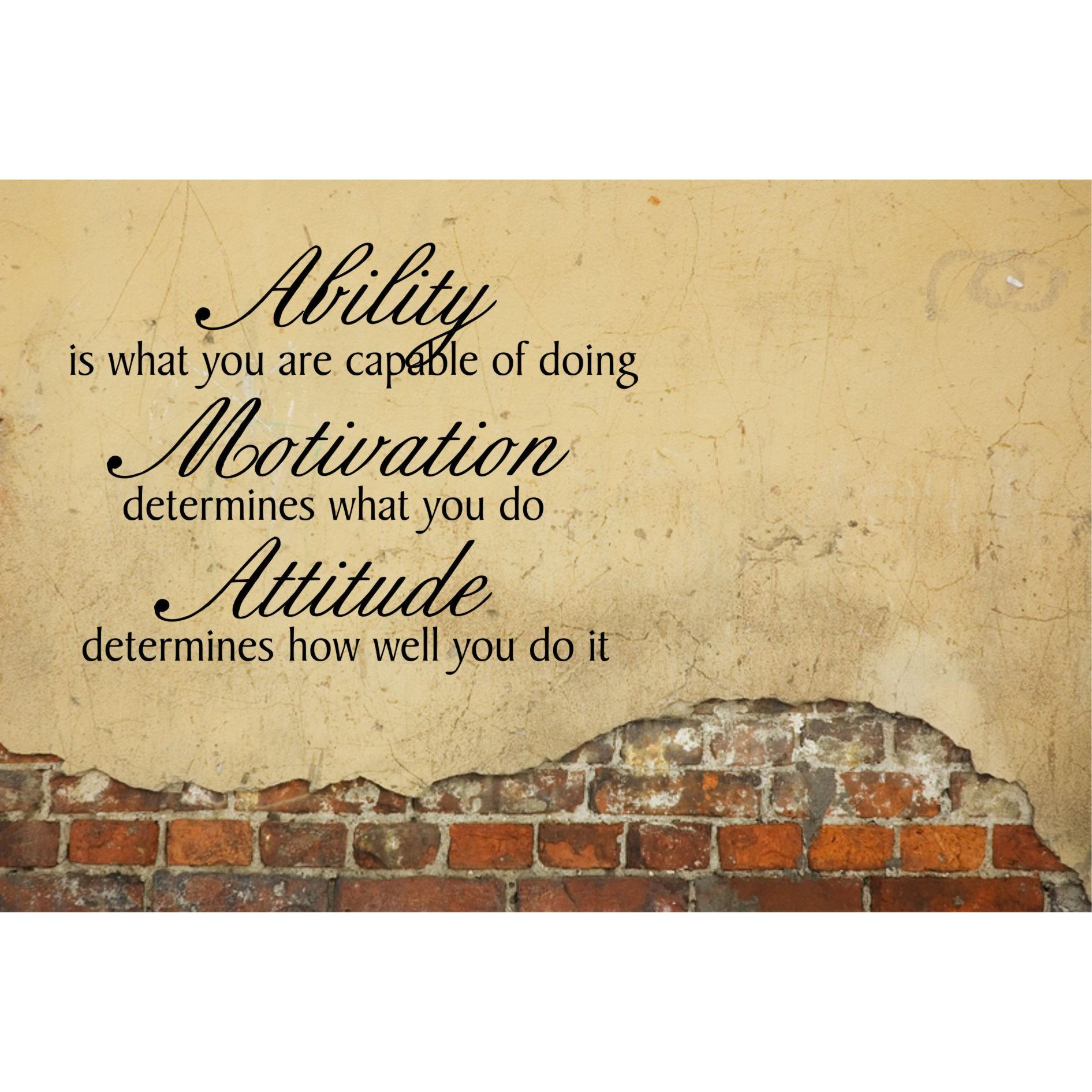 Everything Vinyl Decor Ability, Motivation, Attitude Inspirational Vinyl Wall Art