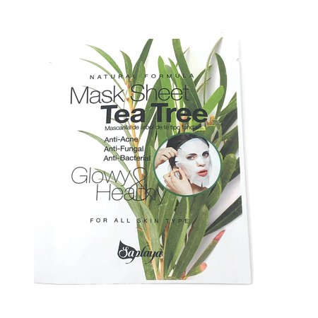 Tea Tree Mask Sheet Natural Formula - ANTI ACNE - FUNGAL - BACTERIAL - Facial Mask 25 -