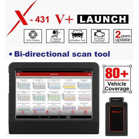 LAUNCH X431 V+ Bluetooth OBD2 Scanner Car Diagnostic Tool Full System Bi-Directional Code Scanner 11 Reset Functions (Upgraded Version of X431 V Pro)