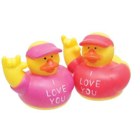 ILY I Love You Rubber Ducks -2 in a bag - Little Rubber Ducks
