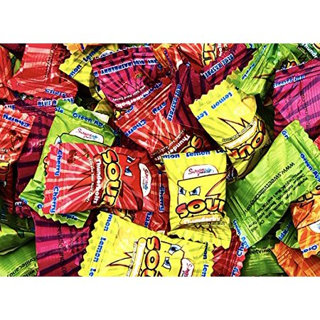 (SweetVille Extreme Sour Hard Candy, Tunderbolts Assorted Fruit Flavors (Pack of 2 Pounds))