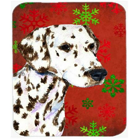 Carolines Treasures SS4676MP Dalmatian Red and Green Snowflakes Christmas Mouse Pad, Hot Pad or Trivet - image 1 of 1
