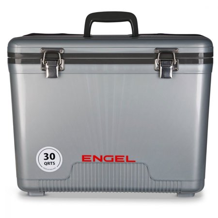 Engel Coolers 30 Quart 48 Can Lightweight Insulated Mobile Cooler Drybox, -