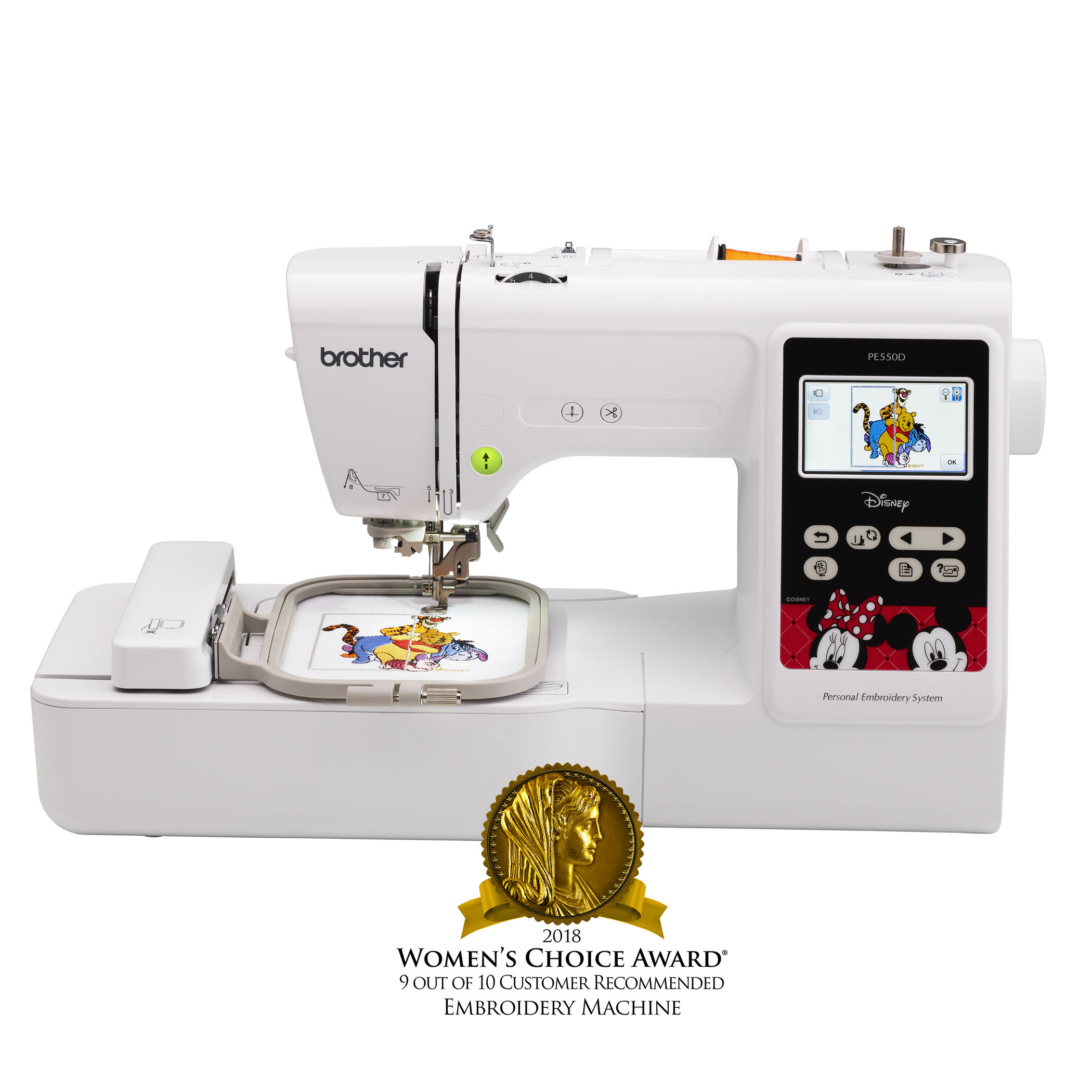 Brother, PE550D Embroidery Machine with built-in Disney designs