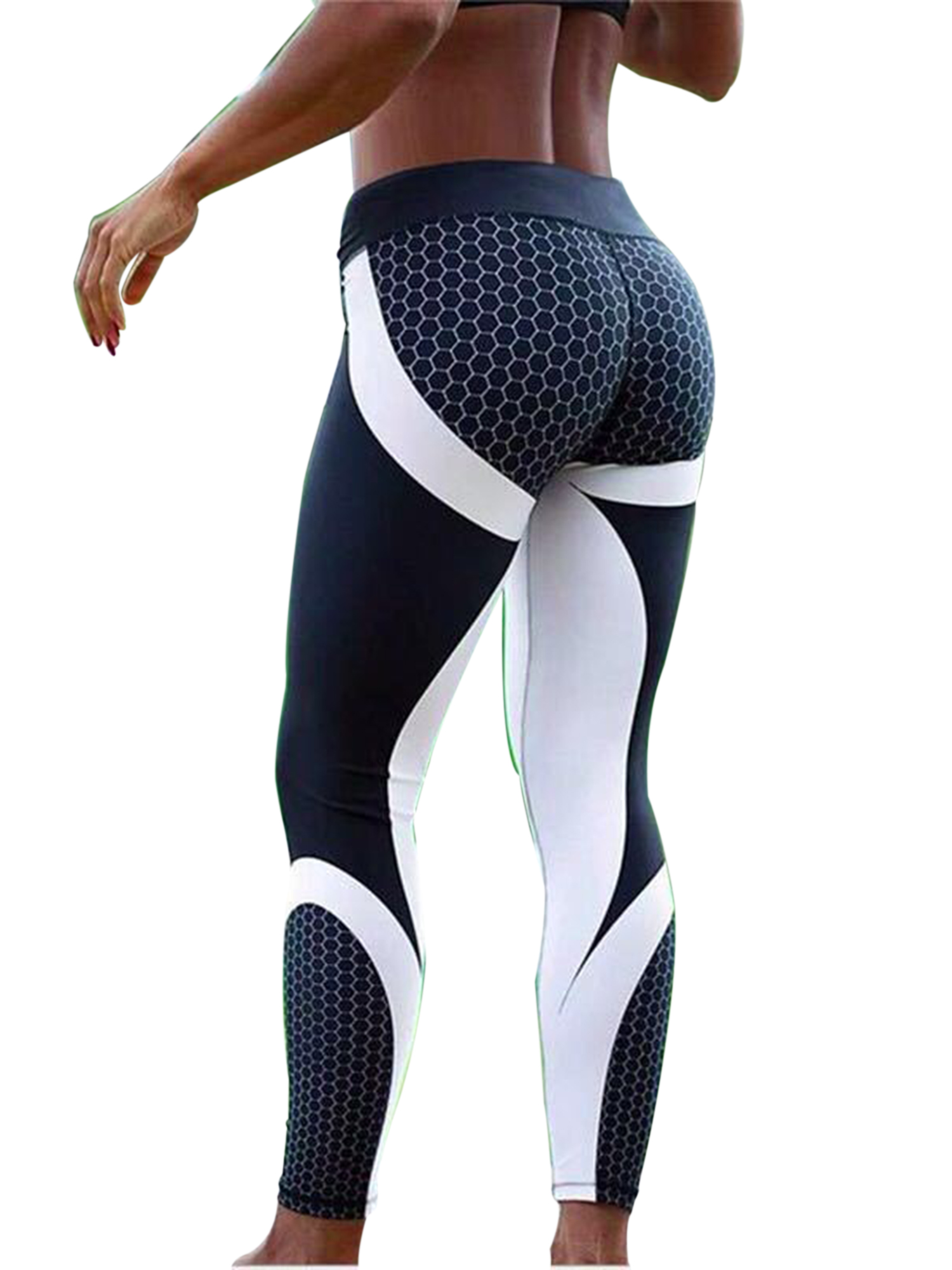 Womens Yoga Pants Fitness Stretch Leggings Running Gym Exercise Sports Trousers