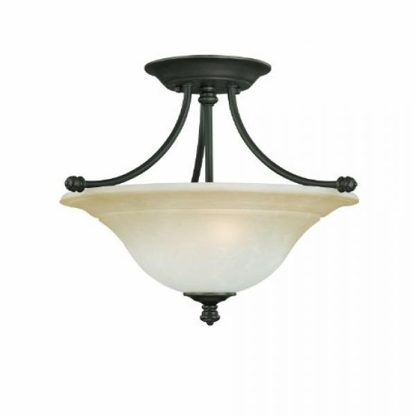 Thomas Lighting Sl8662-62 Harmony Two-Light Semi-Flushmount Fixture, Aged Bronze by
