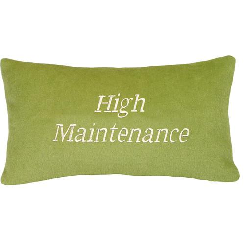 123 Creations High Maintenance Wool Lumbar Pillow