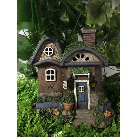HI-LINE GIFT LTD. FAIRY GARDEN - COTTAGE WITH SOLAR LIGHTS (Fairy Garden Supplies Cheap)