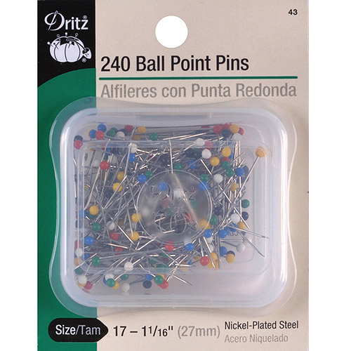 Color Ball Point Pins, Size 17, 240pk