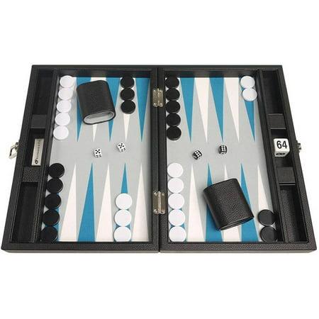 White Stitching Backgammon Set - 13