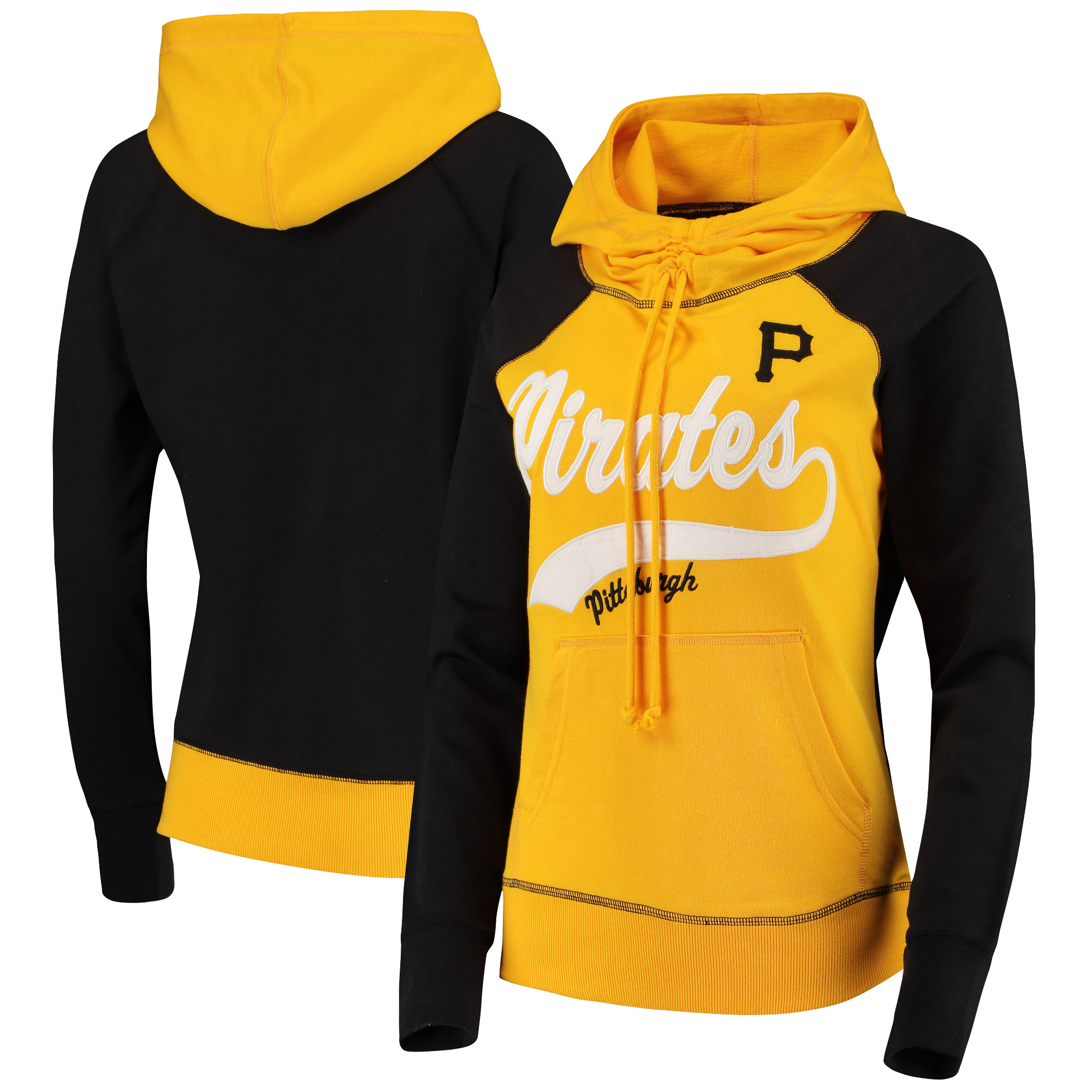 Pittsburgh Pirates G-III 4Her by Carl Banks Women's Charge the Mound Hoodie - Yellow/Black