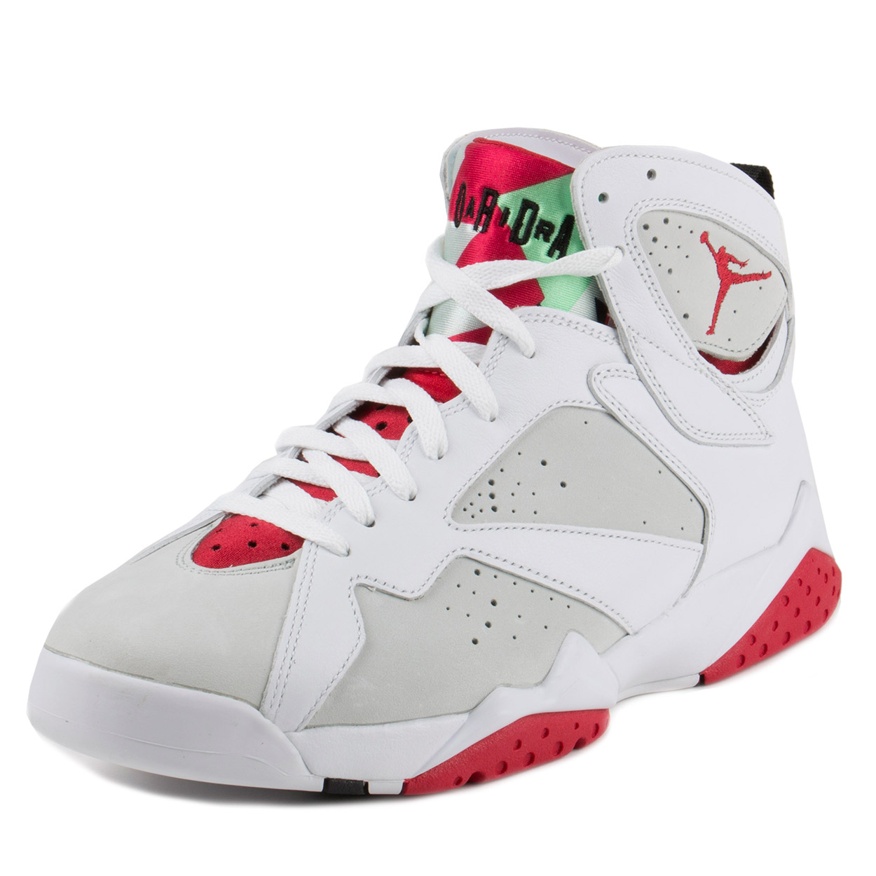 "Nike Mens Air Jordan 7 Retro ""Hare"" White/True Red-Light Silver 304775-125"