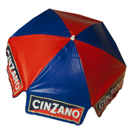 Heininger Cinzano Red and Blue Market Patio Umbrella - Multiple Sizes